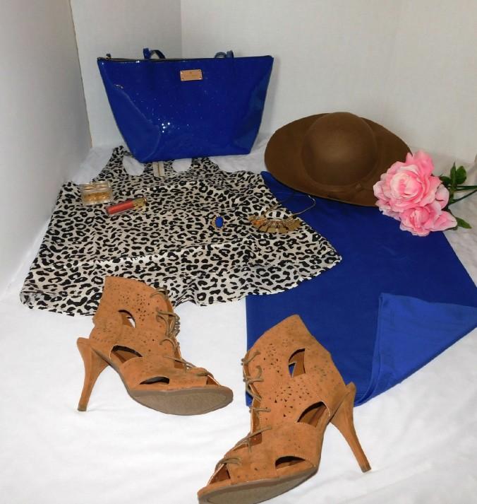 royal blue skirt set3