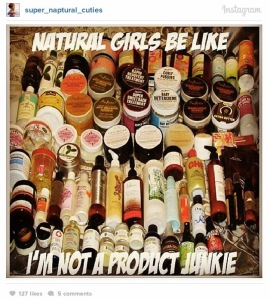 natural hair and products
