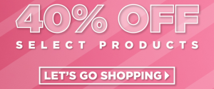 Up to 40% off of select brushes, eyeliner, eye bases, and eyeshadow palettes